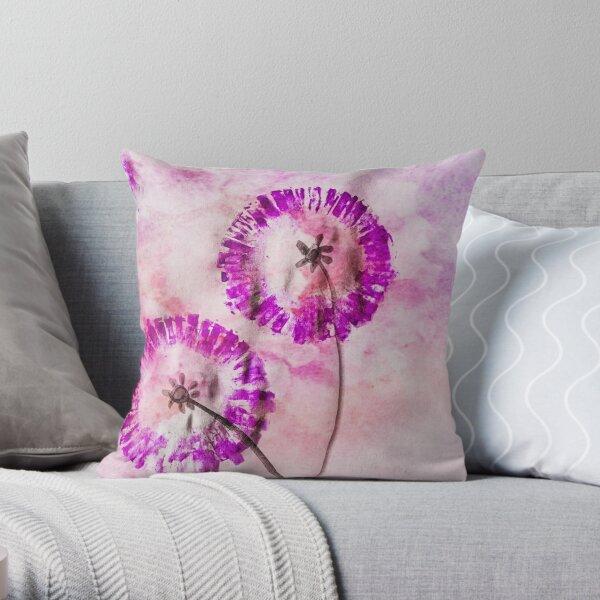 Violet Pink Dream Throw Pillow