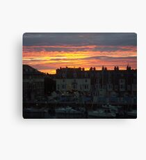 Weymouth Harbour Sunset  Canvas Print