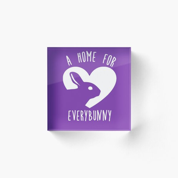 A Home for EveryBunny Logo Acrylic Block