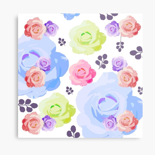 Beautiful Springtime Roses Metal Print