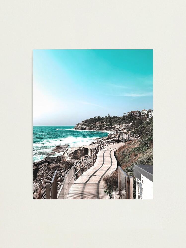 Alternate view of Coogee Beach to Bondi Beach in Sydney Australia Photographic Print