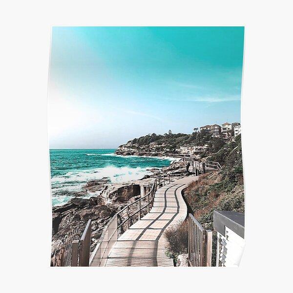 Coogee Beach to Bondi Beach in Sydney Australia Poster
