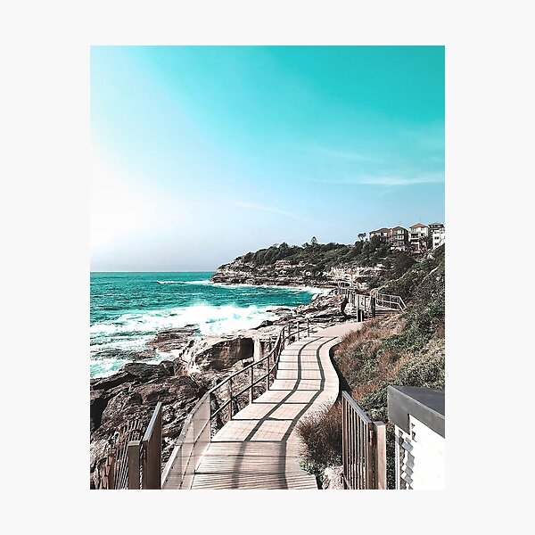 Coogee Beach to Bondi Beach in Sydney Australia Photographic Print