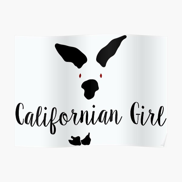 Californian Girl Bunny  Poster