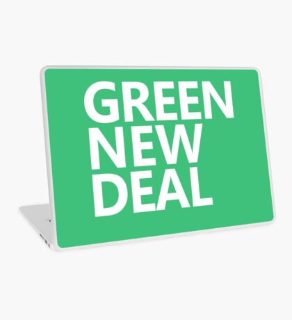 Green New Deal - White Text Laptop Skin