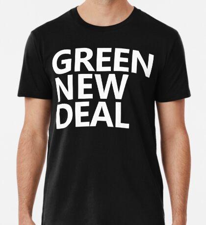 Green New Deal - White Text Premium T-Shirt