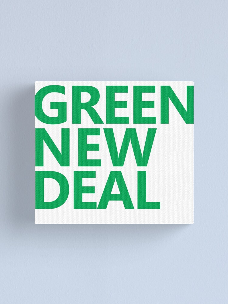 Alternate view of Green New Deal - Green Text Canvas Print