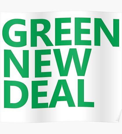 Green New Deal - Green Text Poster