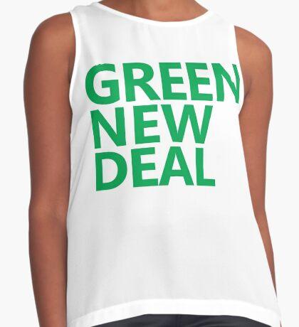 Green New Deal - Green Text Sleeveless Top