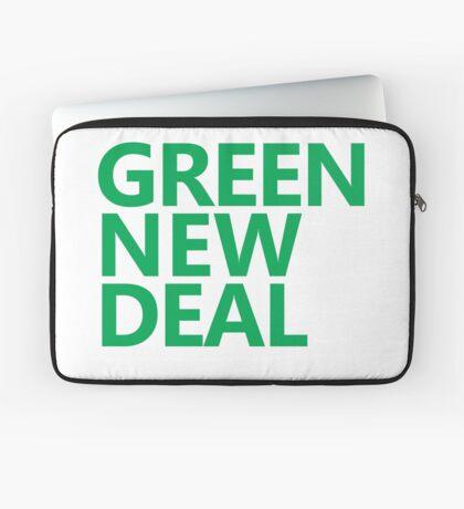 Green New Deal - Green Text Laptop Sleeve