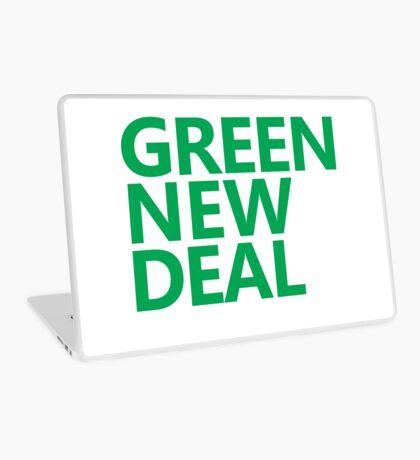 Green New Deal - Green Text Laptop Skin