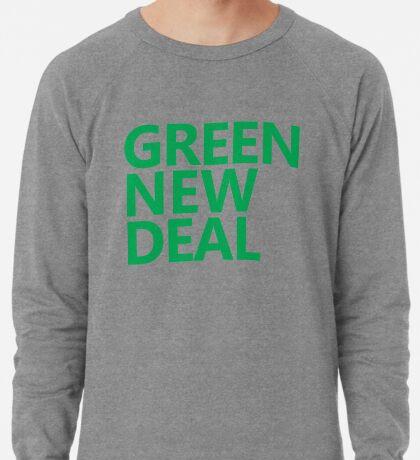 Green New Deal - Green Text Lightweight Sweatshirt