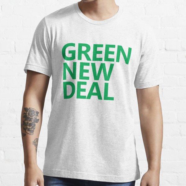 Green New Deal - Green Text Essential T-Shirt