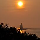 Lighthouse at Sunset - II by Corkle