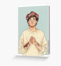 Tommo flower crown Greeting Card