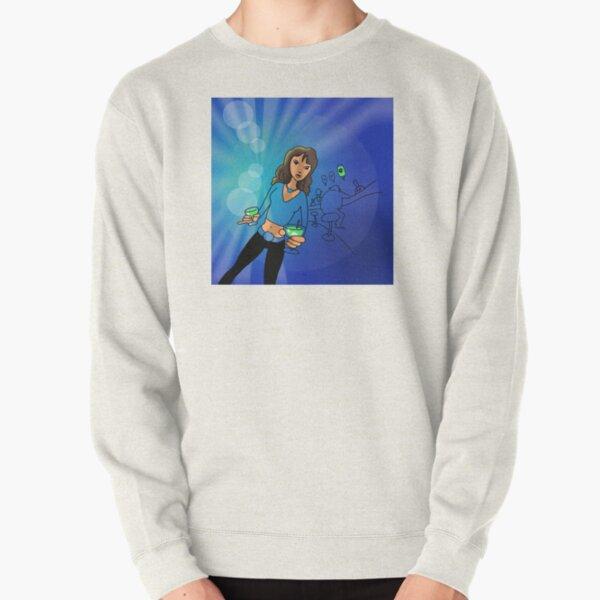 Bar drink of death illustration Pullover Sweatshirt