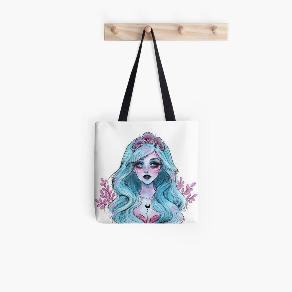 Perlglänzende Meerjungfrau Stofftasche