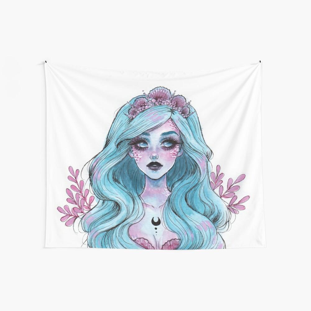 Perlglänzende Meerjungfrau Wandbehang