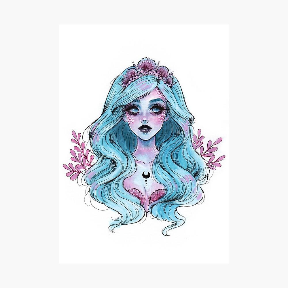 Perlglänzende Meerjungfrau Fotodruck