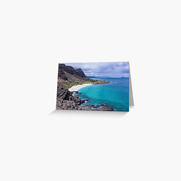 Photograph Makapuu Lookout in Oahu Greeting Card