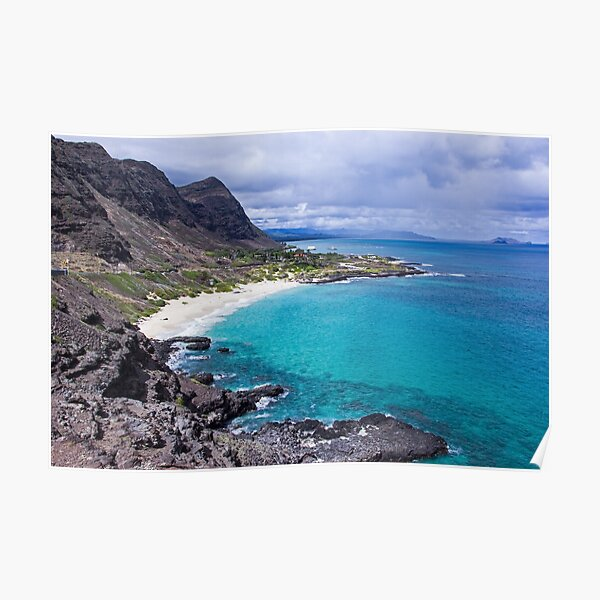 Photograph Makapuu Lookout in Oahu Poster