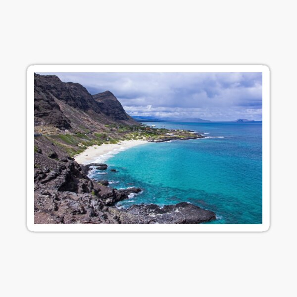 Photograph Makapuu Lookout in Oahu Sticker