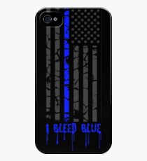 Thin Blue Line - I Bleed Blue iPhone 4s/4 Case