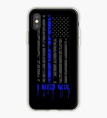 Thin Blue Line - I Bleed Blue iPhone Case