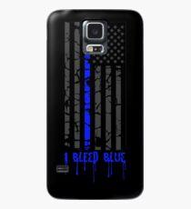 Dünne blaue Linie - ich blute blau Hülle & Klebefolie für Samsung Galaxy