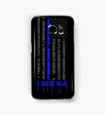 Thin Blue Line - I Bleed Blue Samsung Galaxy Case/Skin