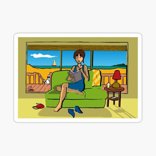Beach House Mystery Sticker Sticker