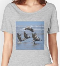 Brown Pelicans Take Flight Women's Relaxed Fit T-Shirt