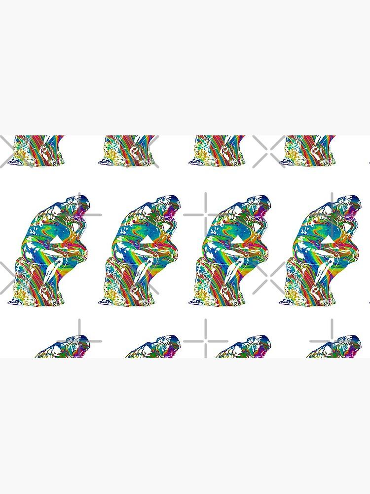 Thinker - Colorful Swirls by dlpalmer