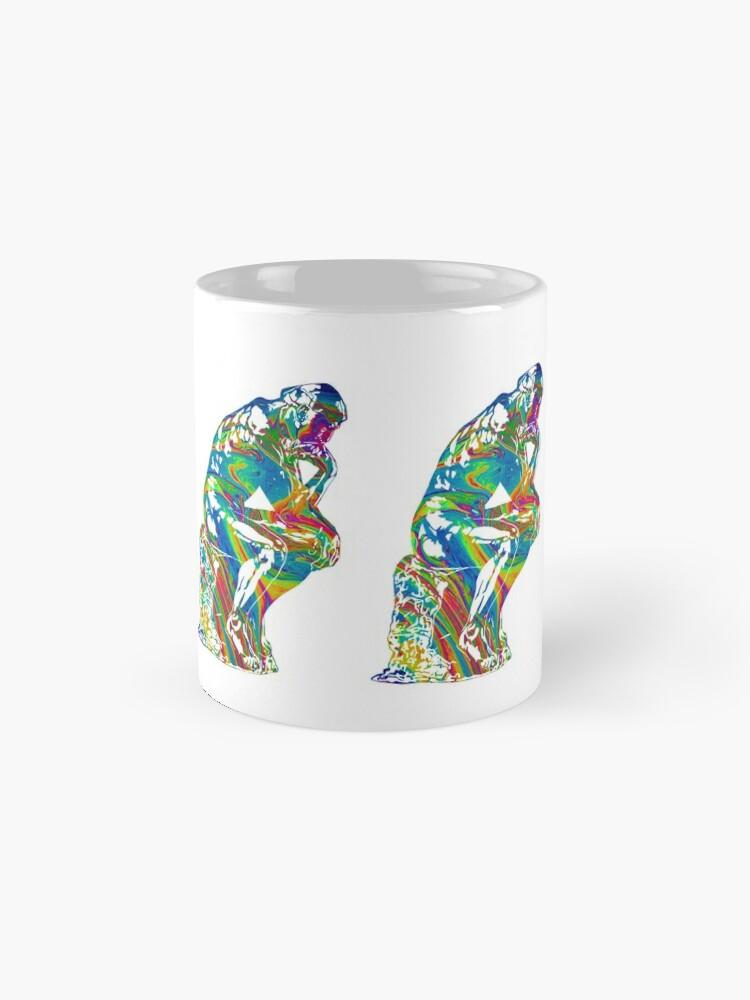 Alternate view of Thinker - Colorful Swirls Mug