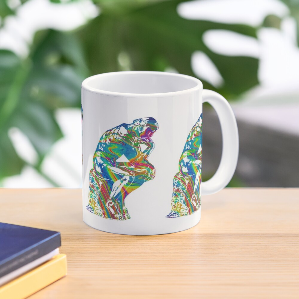 Thinker - Colorful Swirls Mug