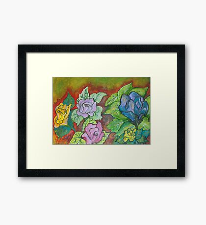 Come smell the Roses Framed Print
