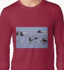 Brown Pelicans in Flight T-Shirt