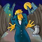 Dog Alley Cartoon by bonafidethreadz
