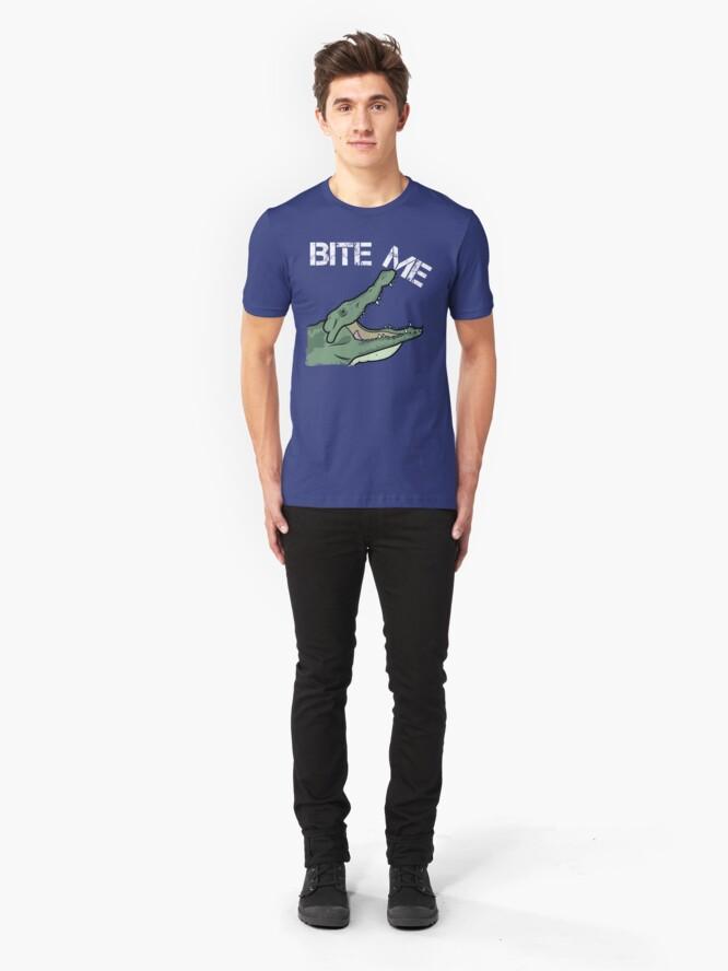 Alternate view of Bite Me - Go Repairs Slim Fit T-Shirt