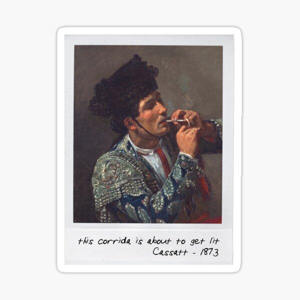 cassatt - bullfight Sticker