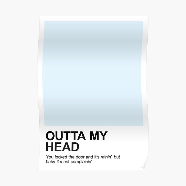 Outta My Head Pantone Poster