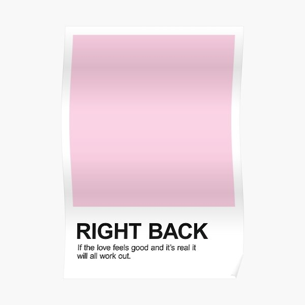Right Back Pantone Poster