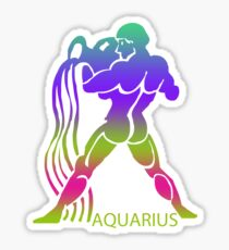 Colorful Zodiac sign - Aquarius Sticker