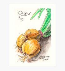 Yellow Onions Art Print
