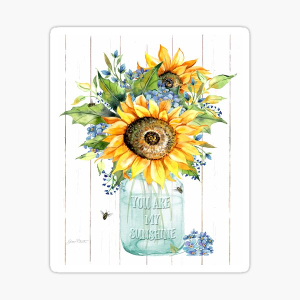 Sunshine Sunflowers B Sticker