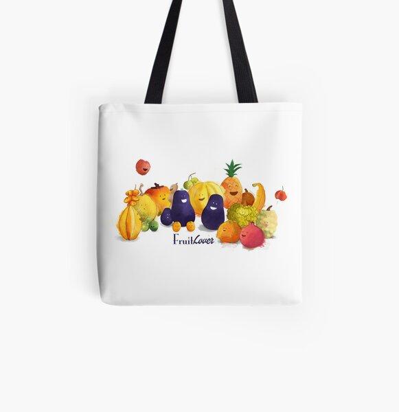 fruits tropicaux Tote bag doublé