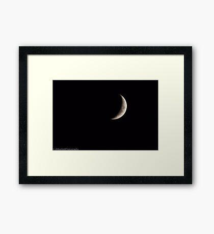 Crescent Slice Framed Print