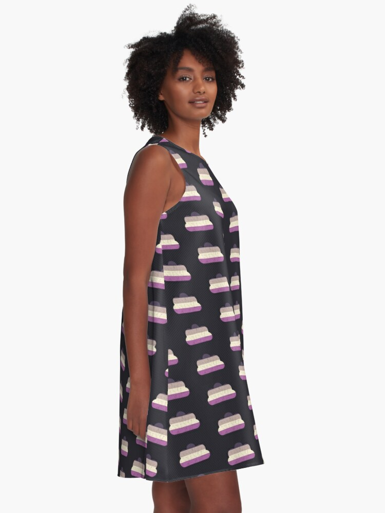 Alternate view of Asexual Cloud A-Line Dress