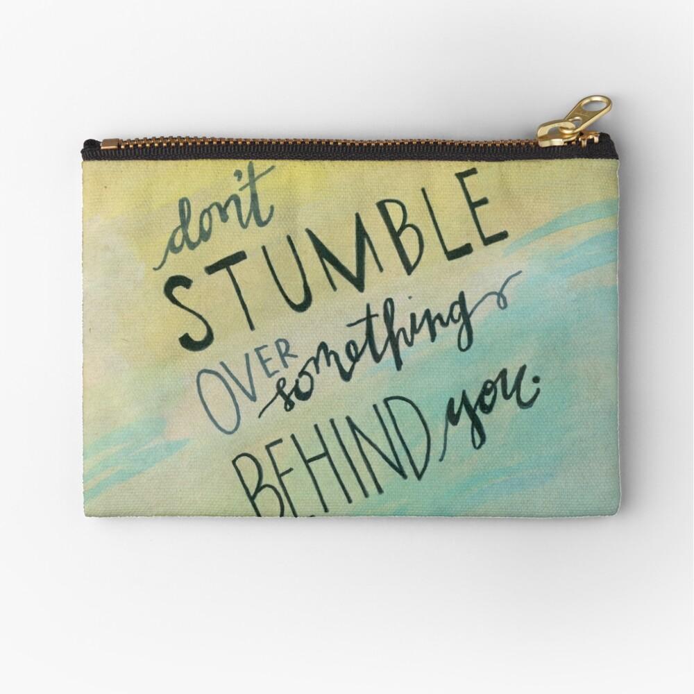Don't Stumble Zipper Pouch