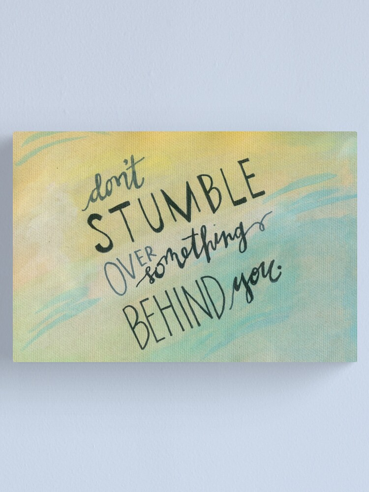 Alternate view of Don't Stumble Canvas Print